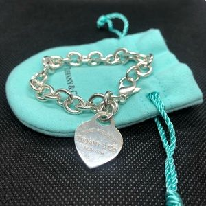 Tiffany and Co. silver heart tag bracelet